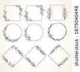 collection floral frame line... | Shutterstock .eps vector #1875040498