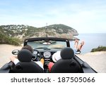 couple sitting in convertible... | Shutterstock . vector #187505066