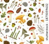 autumn seamless raster pattern... | Shutterstock . vector #1875059632