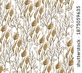 autumn seamless raster pattern... | Shutterstock . vector #1875059635
