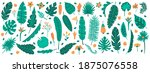 tropical jungle leaves. exotic...   Shutterstock .eps vector #1875076558