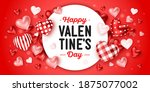 happy valentine's day holiday.... | Shutterstock .eps vector #1875077002
