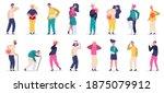 injured people. adult... | Shutterstock .eps vector #1875079912