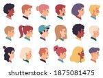 people portraits. men  women... | Shutterstock .eps vector #1875081475