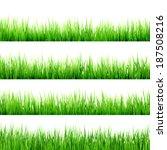 fresh spring green grass...   Shutterstock .eps vector #187508216