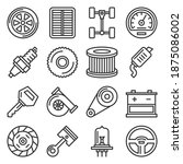 car parts icons set on white... | Shutterstock .eps vector #1875086002
