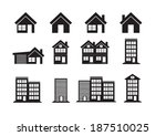 building icons set | Shutterstock .eps vector #187510025