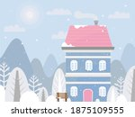house in the woods. design for... | Shutterstock .eps vector #1875109555