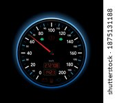 speedometer  modern car display ...   Shutterstock .eps vector #1875131188