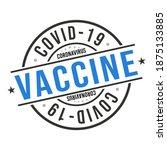 coronavirus vaccine stamp... | Shutterstock .eps vector #1875133885
