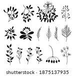 set of black and white...   Shutterstock .eps vector #1875137935