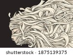 abstract mummy woman background ... | Shutterstock .eps vector #1875139375