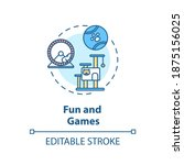 fun and games concept icon.... | Shutterstock .eps vector #1875156025
