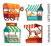 market stalls  fair booths ... | Shutterstock .eps vector #1875164395