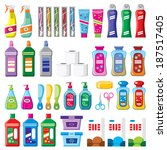 set of household chemicals.... | Shutterstock . vector #187517405