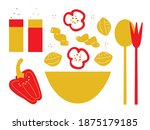 cooking ingredients for your... | Shutterstock .eps vector #1875179185