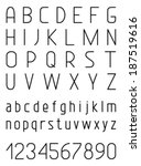 light vector font. vector... | Shutterstock .eps vector #187519616