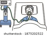 male end stage patient with... | Shutterstock .eps vector #1875202522