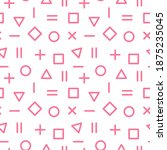 vector seamless pattern with... | Shutterstock .eps vector #1875235045