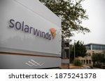 Small photo of Austin, Texas - December 15, 2020: SolarWinds Headquarters entrance