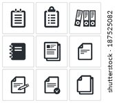 notepad paper documents icons... | Shutterstock .eps vector #187525082