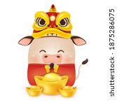 happy chinese new year 2021.... | Shutterstock .eps vector #1875286075
