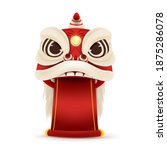 happy chinese new year lion... | Shutterstock .eps vector #1875286078