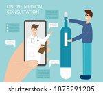 online medicine concept... | Shutterstock .eps vector #1875291205