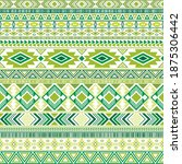 mexican american indian pattern ... | Shutterstock .eps vector #1875306442