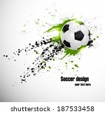 soccer deign. design for brazil ... | Shutterstock .eps vector #187533458
