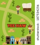 cowgirl birthday party | Shutterstock .eps vector #187534256