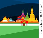 temple of the emerald buddha in ... | Shutterstock . vector #187534562
