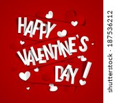happy valentines day greeting... | Shutterstock .eps vector #187536212
