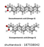 docosahexaenoic  dha  cervonic...   Shutterstock .eps vector #187538042