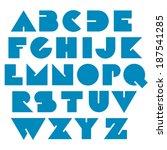 modern geometric font    Shutterstock .eps vector #187541285