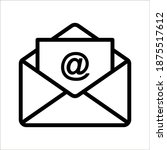 email icon isolated on white...