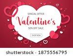 white heart shaped text frame... | Shutterstock .eps vector #1875556795