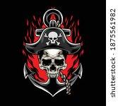 illustration of skull pirates... | Shutterstock .eps vector #1875561982