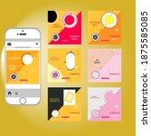 editable template post for... | Shutterstock .eps vector #1875585085