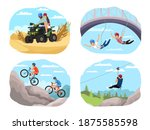 extreme sport adventure set.... | Shutterstock .eps vector #1875585598