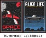 outer space exploration  alien... | Shutterstock .eps vector #1875585835