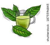 cup of natural herbal kratom...   Shutterstock . vector #1875596845