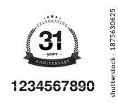31 year anniversary celebration ...   Shutterstock .eps vector #1875630625
