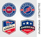 made in america usa label set... | Shutterstock .eps vector #1875637702