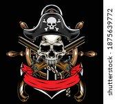 illustration skull pirates...   Shutterstock .eps vector #1875639772