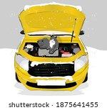 arac n z   al  t rmadan kaputa... | Shutterstock .eps vector #1875641455