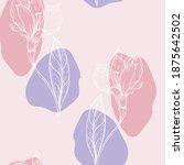 beautiful seamless floral... | Shutterstock . vector #1875642502