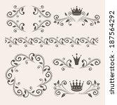 floral design elements ... | Shutterstock . vector #187564292