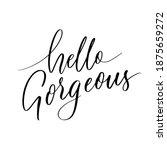 hello gorgeous   hand lettering ... | Shutterstock .eps vector #1875659272