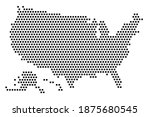 dot map of the united states of ...   Shutterstock .eps vector #1875680545